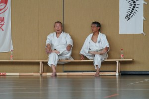 Zwei Bundestrainer, links Nagai Shihan und rechts Koga Shihan